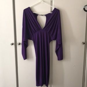 Purple Unaluna Long Sleeve Dress